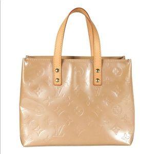 Louis Vuitton Beige Patent Leather Bag